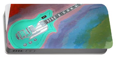 Green Guitar Portable Battery Charger by Magdalena Frohnsdorff