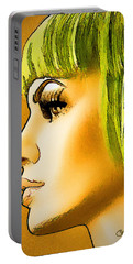 Green Hair Portable Battery Charger by Chuck Staley