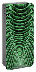 Portable Battery Charger featuring the digital art Green Hall by Anastasiya Malakhova
