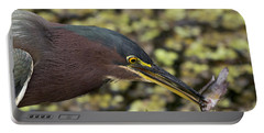 Green Heron Fishing Portable Battery Charger