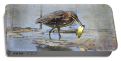 Green Heron More Than A Mouthful Portable Battery Charger