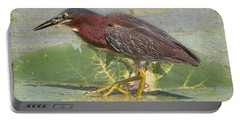 Green Heron - Snack Time Portable Battery Charger