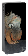 Green Iguana  Portable Battery Charger by Judy Whitton