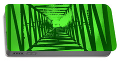 Portable Battery Charger featuring the photograph Green Perspective by Clare Bevan
