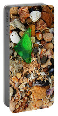 Green Sea Glass Portable Battery Charger