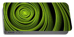 Portable Battery Charger featuring the digital art Green Wellness by Gabiw Art