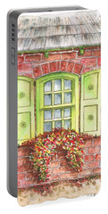 Green Window Portable Battery Charger by Carlos G Groppa
