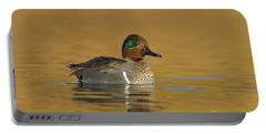 Green Wing Teal Portable Battery Charger