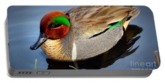 Green Winged Teal  Duck  Portable Battery Charger by Susan Garren
