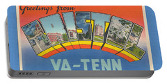 Greetings From Bristol Va-tn  Large Letter Portable Battery Charger