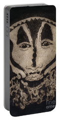 Greetings From New Guinea - Mask - Tribesmen - Tribesman - Tribal - Jefe - Chef De Tribu Portable Battery Charger