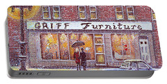 Portable Battery Charger featuring the painting Griff Valentines' Birthday by Rita Brown