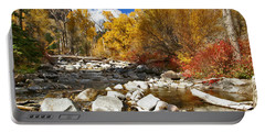 Portable Battery Charger featuring the photograph Grizzly Creek Canyon by Jeremy Rhoades