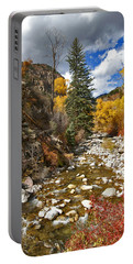 Portable Battery Charger featuring the photograph Grizzly Creek Cottonwoods Vertical by Jeremy Rhoades