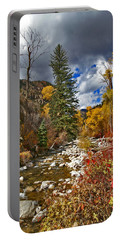 Portable Battery Charger featuring the photograph Grizzly Creek Vertical by Jeremy Rhoades