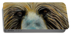 Grizzly Eyes Portable Battery Charger by Jeanne Fischer