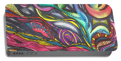 Groovy Series Titled Thoughts Portable Battery Charger by Chrisann Ellis