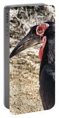 Ground Hornbill Portable Battery Charger by Douglas Barnard
