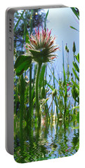 Ground Level Flora Portable Battery Charger by Joyce Dickens