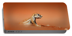 Ground Squirrel On Red Desert Sand Portable Battery Charger