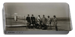 The Wright Brothers Group Portrait In Front Of Glider At Kill Devil Hill Portable Battery Charger
