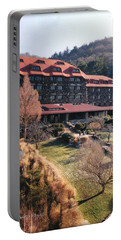 Grove Park Inn In Early Winter Portable Battery Charger