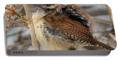 Grumpy Bird Square Portable Battery Charger by Bill Wakeley