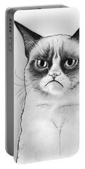 Grumpy Cat Portrait Portable Battery Charger