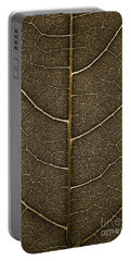 Grunge Leaf Detail Portable Battery Charger