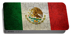 Grunge Mexico Flag Portable Battery Charger