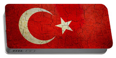 Grunge Turkey Flag Portable Battery Charger