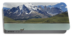 Guanaco At Laguna Amarga Portable Battery Charger by Michele Burgess