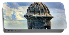 Guard Tower At El Morro Portable Battery Charger by Daniel Sheldon