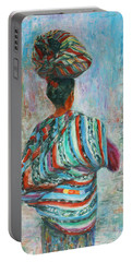 Portable Battery Charger featuring the painting Guatemala Impression I by Xueling Zou