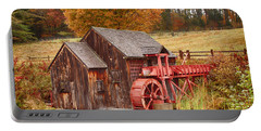 Portable Battery Charger featuring the photograph Guildhall Grist Mill by Jeff Folger