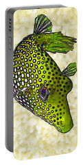 Guinea Fowl Puffer Fish In Green Portable Battery Charger