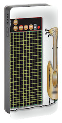 Portable Battery Charger featuring the digital art Guitar And Amp by Marvin Blaine