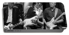 Guitar Legends Jimmy Page Jeff Beck And Eric Clapton Portable Battery Charger by Marvin Blaine