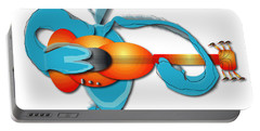 Portable Battery Charger featuring the digital art Guitar Rocker by Marvin Blaine
