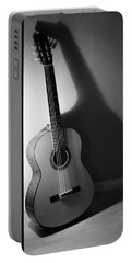 Guitar Still Life In Black And White Portable Battery Charger