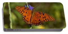 Portable Battery Charger featuring the photograph Gulf Fritillary Butterfly by Meg Rousher