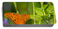 Portable Battery Charger featuring the photograph Gulf Fritillary by Jane Luxton