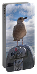 Portable Battery Charger featuring the photograph Gull by Mim White