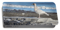 Seagull  Portable Battery Charger by Eunice Miller