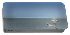 Portable Battery Charger featuring the photograph Gulls In Flight by Erika Weber