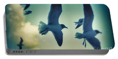 Gulls Portable Battery Charger by Paulo Guimaraes