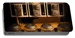 Gumball Memories - Row Of Antique Vintage Vending Machines - Iconic New York City Portable Battery Charger