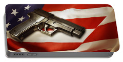 Gun On Flag Portable Battery Charger