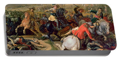 Gustavus II Adolphus, King Of Sweden 1595-1632 Leading A Cavalry Charge At The Battle Of Lutzen Portable Battery Charger