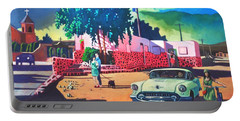 Guys Dolls And Pink Adobe Portable Battery Charger by Art James West